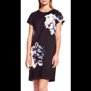 Vince Camuto Floral Print Shift Dress